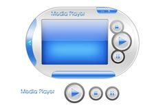 Media player interface design Stock Image