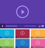 Media player interface. Vector illustration. Stock Photography
