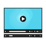 Media player interface. Royalty Free Stock Images