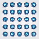 Media Player-Knoop vector illustratie