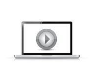 Media player on a laptop illustration design Royalty Free Stock Photography