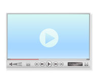 Media player in light colors Stock Images