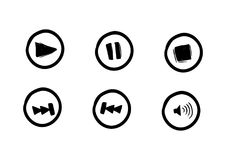 Media player music keys icon. Doodle drawing simple style vector Royalty Free Stock Photo