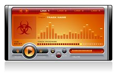 Media Player Orange Royalty Free Stock Image
