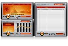Media Player Orange royalty free illustration