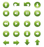 Media Player Remote Control Button Icon Set Stock Photo