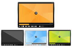 Media player set Royalty Free Stock Image