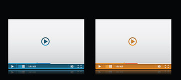 Media player skin Stock Photography