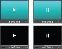 Media player skins Stock Photos