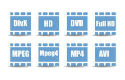 Media player symbols Royalty Free Stock Photo