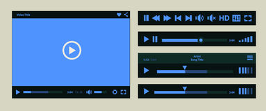 Media player template royalty free illustration