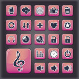 Media player universal buttons Royalty Free Stock Photo