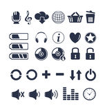 Media player universal icons Stock Photos