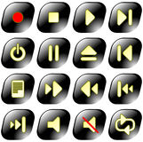 Media player vector iconset Stock Photography