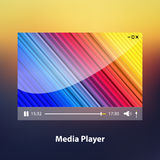 Media Player. Vector illustration. Media Player design template layout. Vector illustration Royalty Free Stock Photography
