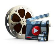 Media player and video clip production concept Stock Images