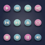 Media player web icons Royalty Free Stock Images