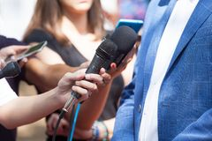 Media or press interview Royalty Free Stock Image