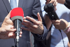 Media or press interview Royalty Free Stock Photography