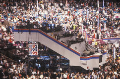 Media press platform at the 1992 Democratic National Convention at Madison Square Garden Stock Images
