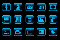 Media and Publishing icons Royalty Free Stock Photos