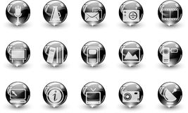 Media and Publishing icons Stock Image