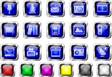 Media and Publishing icons Stock Images