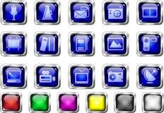 Media and Publishing icons Stock Images