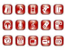 Media & Publishing icons Royalty Free Stock Image