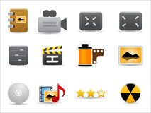 Media and Publishing icons  set Stock Image