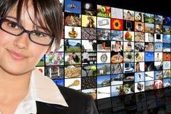Media-Raum Lizenzfreies Stockbild