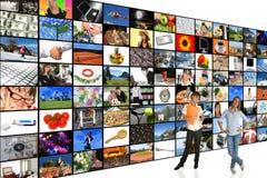 Media-Raum stockbilder