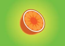 Media rebanada de naranja Imagenes de archivo