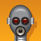 Media robot head Royalty Free Stock Images