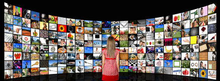 Media room Royalty Free Stock Image