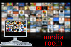 Media room Royalty Free Stock Photo