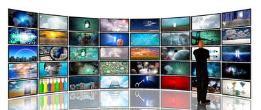 Media Screens Royalty Free Stock Photo