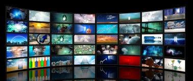 Media Screens Stock Photography