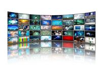 Media Screens royalty free illustration