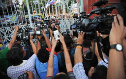 Media Scrum Royalty Free Stock Photo
