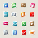 Media simply icons Royalty Free Stock Photography