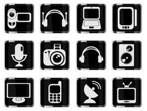 Media simply icons Royalty Free Stock Photos