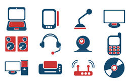 Media simply symbols for web icons Royalty Free Stock Photography