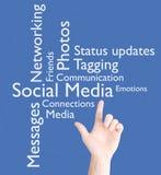 Media sociais Fotografia de Stock