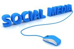 Media sociais Imagens de Stock Royalty Free