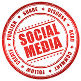 Media sociais Fotos de Stock