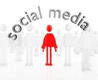Media sociais Imagens de Stock