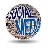 Media sociais Foto de Stock