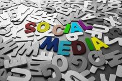 Media sociais Imagem de Stock
