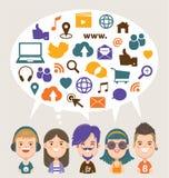 Media sociais ilustração stock